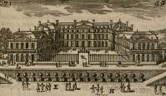Restes du château Neuf - Français:   Entrée du château neuf de Saint-Germain-en-Laye, detail d\'une étampe