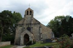 Eglise et cimetière - English: Church of Saint-Lambert-des-Bois, France.