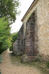 Eglise et cimetière - English: Church side in Saint-Lambert-des-Bois, France.