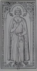 Abbaye de Joyenval - Français:   Gisant, à l\'origine en cuivre, Barthelémy de Roye dans l\'Abbaye de Joyenval. Disparu depuis.