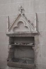 Eglise Notre-Dame-de-l'Assomption - Deutsch: Katholische Pfarrkirche Notre-Dame-de-l'Assomption (Mariä Himmelfahrt) in Boigneville im Département Essonne (Île-de-France/Frankreich), Piscina
