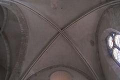 Eglise Notre-Dame-de-l'Assomption - Deutsch: Katholische Pfarrkirche Notre-Dame-de-l'Assomption (Mariä Himmelfahrt) in Boigneville im Département Essonne (Île-de-France/Frankreich), Kreuzrippengewölbe