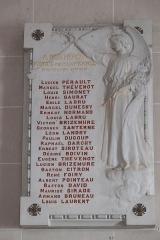 Eglise Notre-Dame-de-l'Assomption - Deutsch: Katholische Pfarrkirche Notre-Dame-de-l'Assomption (Mariä Himmelfahrt) in Boigneville im Département Essonne (Île-de-France/Frankreich), Gedenktafel