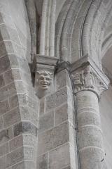Eglise Notre-Dame-de-l'Assomption - Deutsch: Katholische Pfarrkirche Notre-Dame-de-l'Assomption (Mariä Himmelfahrt) in Boigneville im Département Essonne (Île-de-France/Frankreich), Konsole und Kapitell