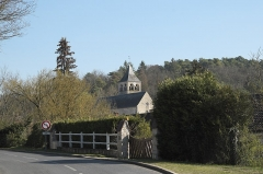 Eglise - Deutsch: Kirche Saint-Hilaire in Boissy-la-Rivière im Département Essonne (Île-de-France/Frankreich)