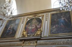 Eglise Saint-Médard - Deutsch: Katholische Pfarrkirche Saint-Médard in Brunoy im Département Essonne (Île-de-France/Frankreich), Holztäfelung mit Gemälden