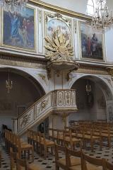 Eglise Saint-Médard - Deutsch: Katholische Pfarrkirche Saint-Médard in Brunoy im Département Essonne (Île-de-France/Frankreich), Kanzel, um 1745