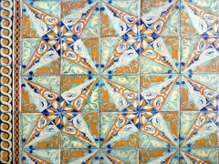 Domaine de Chamarande - English: Tiles of castle of Chamarande
