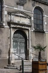 Hôtel-Dieu, actuellement centre hospitalier - Deutsch:   Hôtel Dieu in Étampes im Département Essonne in der Region Île-de-France (Frankreich), Portal