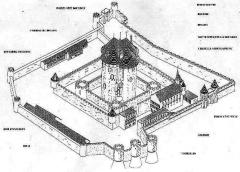 Tour Guinette - Français:   Plan du château.