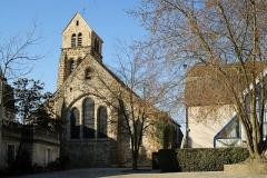 Eglise -  Eglise Saint Germain situé à Saint Germain - Lès Arpajon , à 30 Km au sud ouest de Paris (Essonne)