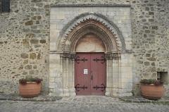 Eglise - Deutsch: Katholische Pfarrkirche Saint-Germain-d'Auxerre in Saint-Germain-lès-Arpajon im Département Essonne (Île-de-France/Frankreich), Portal