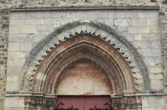 Eglise - Deutsch: Katholische Pfarrkirche Saint-Germain-d'Auxerre in Saint-Germain-lès-Arpajon im Département Essonne (Île-de-France/Frankreich), Archivolten am Portal