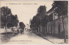 Eglise Saint-Denis - Entrée du Pays et l'Eglise, 1918