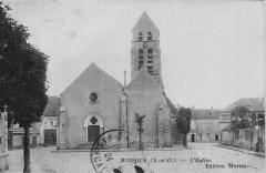 Eglise Saint-Denis - Carte postale de l'église Saint-Denis de Wissous, France (1924).