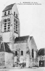 Eglise Saint-Denis - Carte postale de l'église Saint-Denis de Wissous, France (1916).
