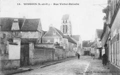 Eglise Saint-Denis - Carte postale de la rue Victor Baloche à Wissous, France.