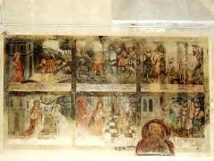 Eglise Saint-Denis - Bas-côté, fresque de sainte Barbe.