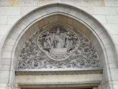 Eglise Notre-Dame-des-Menus - English: Outside Notre-Dame de Boulogne catholic church, in Boulogne-Billancourt, Hauts-de-Seine, France.