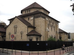 Synagogue - English: Synagogue in Boulogne-Billancourt, Hauts-de-Seine, France.