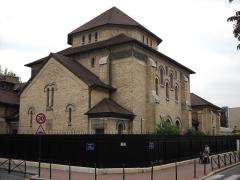 Synagogue - English: Synagogue in Boulogne-Billancourt, Hauts-de-Seine, France.