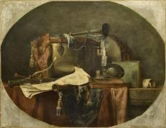 Domaine de Bellevue : ancien château - Français:   Les attributs de la musique militaire, par Chardin, Musée du Louvre. 1767.