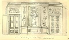 Domaine de Bellevue : ancien château - Français:   Paroi du côté de Sèvres du grand salon de Bellevue, 1773. Non achevé à la mort de Louis XV en 1774. Archives nationales.