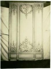 Domaine de Bellevue : ancien château - Français:   Autre panneau de boiseries provenant du cabinet.