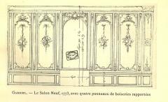 Domaine de Bellevue : ancien château - Français:   Paroi face aux croisées du deuxième salon. Avec des boiseries remployées datant vers 1750.