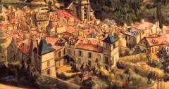 Maison d'Armande Béjart - Français:   Vue de la maison depuis le haut de l\'Orangerie. XIXe siècle, musée d\'Art et d\'Histoire de Meudon.