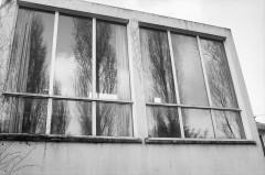 Villa Van Doesburg - Nederlands: Van Doesburghuis: atelier ramen achtergevel