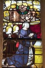 Eglise Notre-Dame-de-la-Pitié - Deutsch: Bleiglasfenster (Ausschnitt) in der katholischen Kirche Notre-Dame-de-Pitié in Puteaux, Stifter mit Kindern
