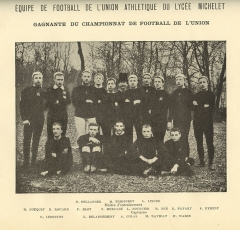 Lycée Michelet - English: U.A.L.M. rugby team - February 1891