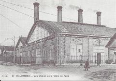 Usine élévatrice des eaux - English: Building B of the pumping plant of Colombes (Hauts-de-Seine, France) circa 1910.