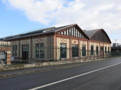Usine élévatrice des eaux - English: Building B of the pumping plant of Colombes (Hauts-de-Seine, France).