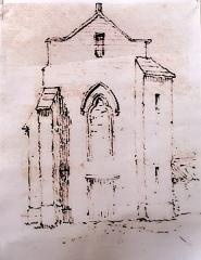 Chapelle Saint-Loup - Français:   Saint-Loubès chapelle Saint-Loup Façade Est(Drouyn c 1855)