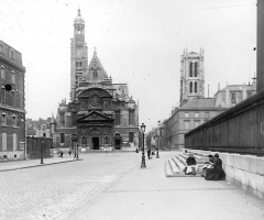 Ancienne abbaye Sainte-Geneviève, actuel lycée Henri IV - Paris - Eglise Saint Etienne du Mont - Photo prise par mon grand-père Maurice Terrien pendant la guerre de 14-18