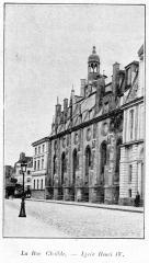 Ancienne abbaye Sainte-Geneviève, actuel lycée Henri IV - Clément Maurice Paris en plein air, BUC, 1897,La rue Clotilde, lycée Henri IV