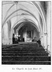 Ancienne abbaye Sainte-Geneviève, actuel lycée Henri IV - Clément Maurice Paris en plein air, BUC, 1897,La Chapelle du lycée Henri IV