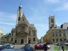 Ancienne abbaye Sainte-Geneviève, actuel lycée Henri IV -  Eglise Saint Etienne du Mont et Collège Départemental Henri IV