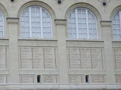 Bibliothèque Sainte-Geneviève - Deutsch:  Die Bibliothek Sainte-Geneviève in Paris (Frankreich). Architekt: Henri Labrouste (1801-1875)