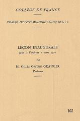 Collège de France - English: Chaire d'Epistémologie Comparative, Collège de France, 1987.