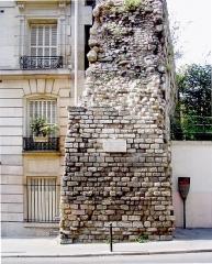 Enceinte de Philippe-Auguste - English: Enceinte of Philippe Auguste - Paris