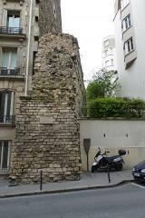 Enceinte de Philippe-Auguste -  Enceinte of Philippe-Auguste, Rue Clovis, Paris.