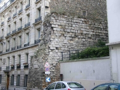 Enceinte de Philippe-Auguste -  Remains of city walls of Philip Augustus, rue Clovis