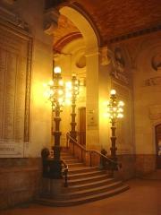 Faculté de Droit de Paris -  Faculté de droit de Paris, universités Paris I-Panthéon-Sorbonne et Paris II Panthéon-Assas, entrée côté rue Saint Jacques. Architecture Napoléon III.