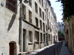 Immeuble - English: View of the 13-17, rue Champollion in Paris