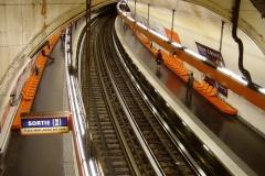 Métropolitain, station Saint-Michel -  Metro de Paris Ligne 4 Saint Michel