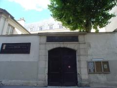 Monastère des Bénédictins anglais - English: This is the gate of Schola Canthorum in Paris.