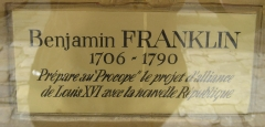 Café Le Procope - English: Benjamin Franklin plaque at Le Procope in Paris.